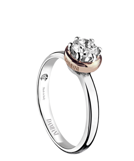 Queen – white gold solitaire ring
