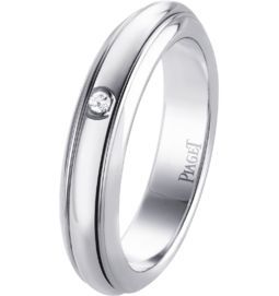 white gold diamond ring band width: 4.5 mm