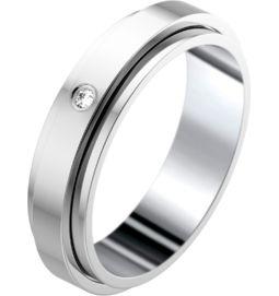 White gold diamond wedding ring Band width : 4.8 mm