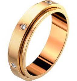 Rose gold diamond wedding ring Band width : 4.8 mm