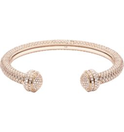 Rose gold diamond open bangle bracelet