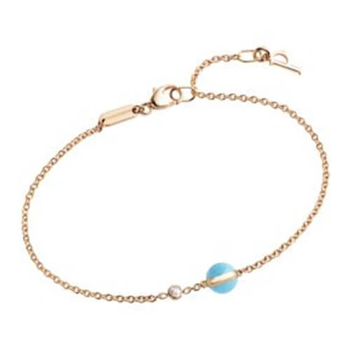 Rose gold turquoise diamond bracelet