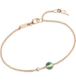Rose gold malachite diamond bracelet