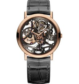 Skeleton watch ultra-thin automatic rose gold 38 mm
