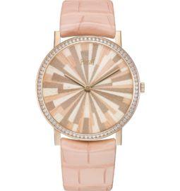 ultra-thin watch mechanical rose gold diamonds 38 mm