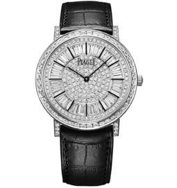 ultra-thin watch mechanical white gold diamonds 41 mm