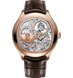 tourbillon watch ultra-thin automatic rose gold 46.5 mm