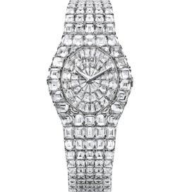 Ultra-thin watch mechanical white gold diamonds 32 mm 35 mm