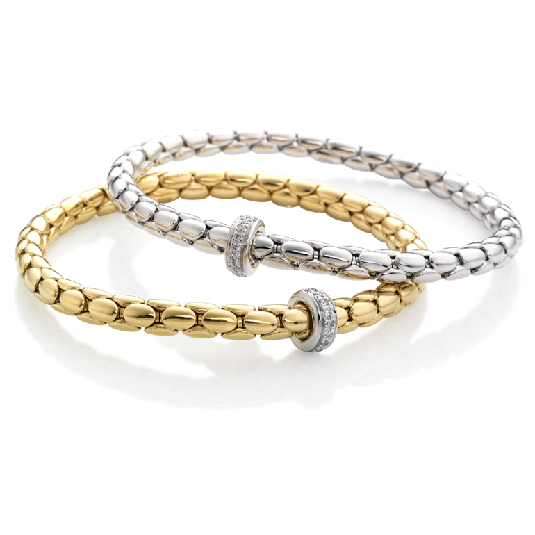White gold bracelet with diamonds  & other