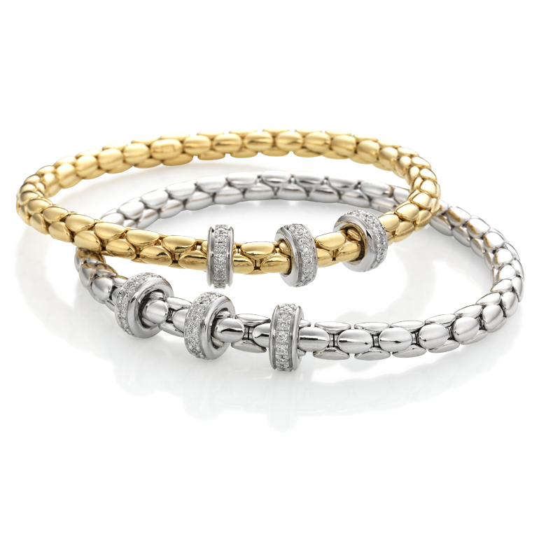 Yellow gold bracelet with diamonds  & other