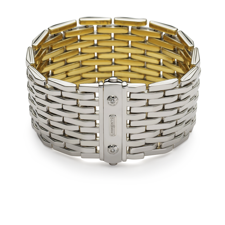 Yellow and white gold reversible bracelet  & other