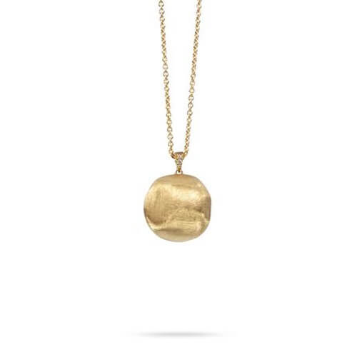 Africa Gold & Pave Diamond Pendant