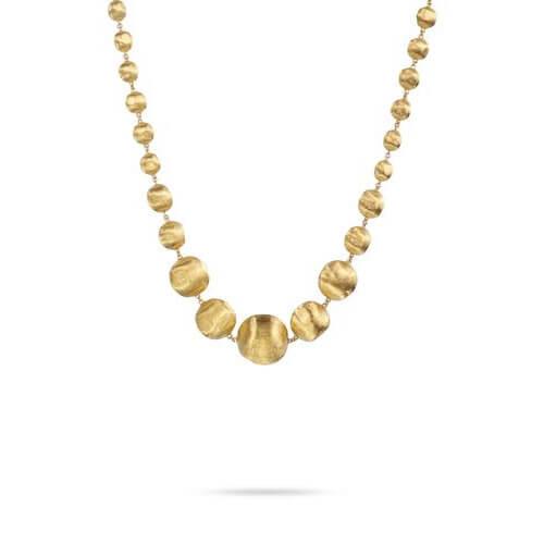 Africa Gold Graduated Medium Gauge Necklace