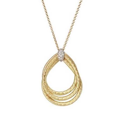 Cairo Gold & Diamond Small Woven Pendant