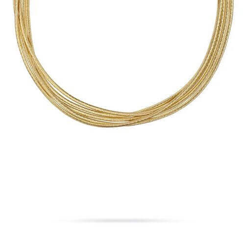 Cairo Gold Five Strand Woven Necklace