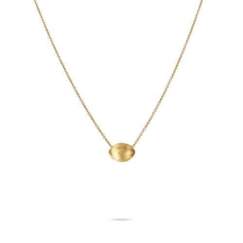 Delicati Gold Oval Bead Pendant