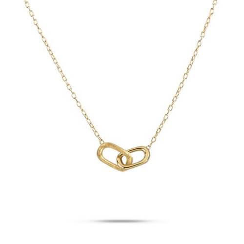 Delicati Gold Rectangle Link Pendant