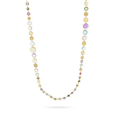 jaipur graduated multicolor gemstone necklace