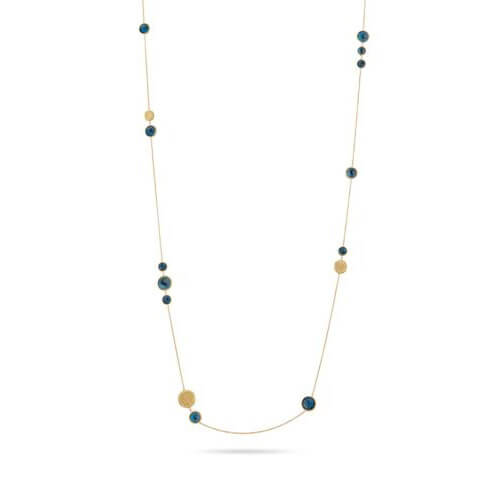 Jaipur London Blue Topaz and Yellow Gold Long Necklace