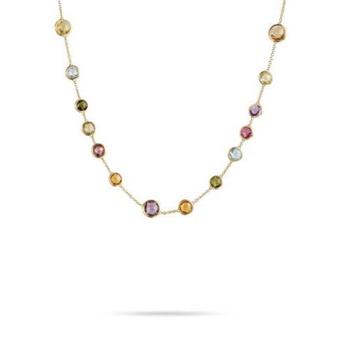 jaipur mixed gemstones small bead necklace