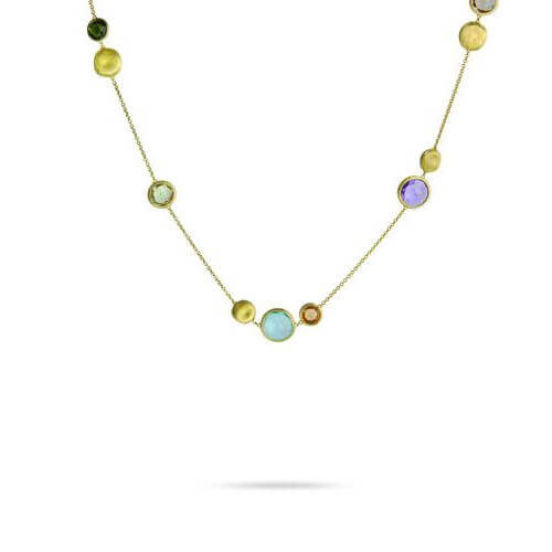 Jaipur Mixed Stone and Gold Bead Necklace