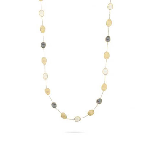 Lunaria Black & White Mother of Pearl long Necklace