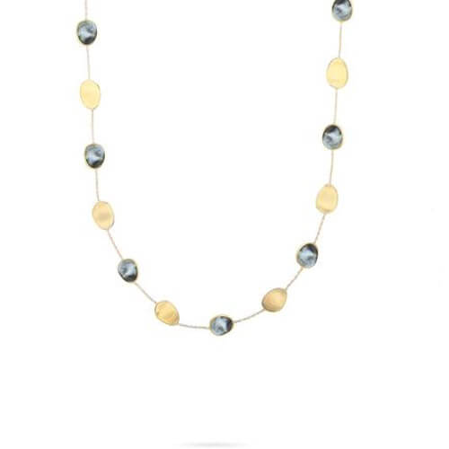 Lunaria Black Mother of Pearl Short Necklace