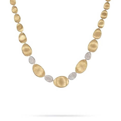 lunaria gold & diamond pave collar necklace