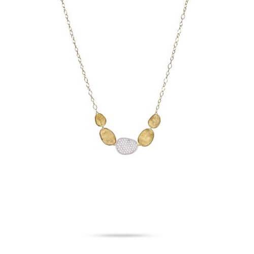 Lunaria Gold & Diamond Pave Graduated Necklace