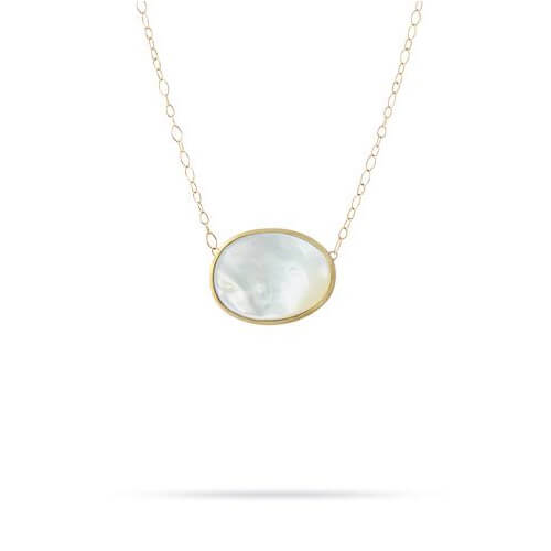 Lunaria Gold & Mother of Pearl Pendant