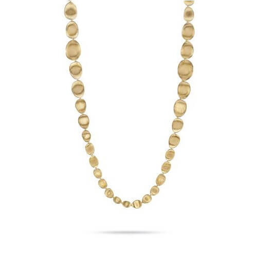 Lunaria Gold Medium Double Wave Necklace