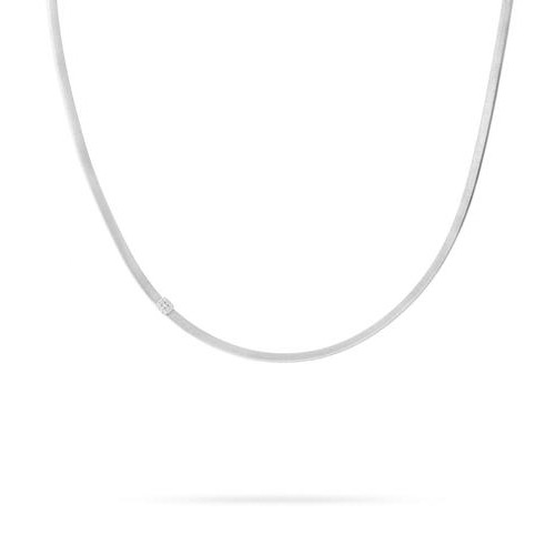 Masai Single Station Diamond Necklace in White Gold
