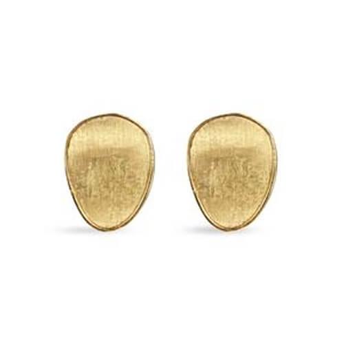 Lunaria Gold Stud Earrings