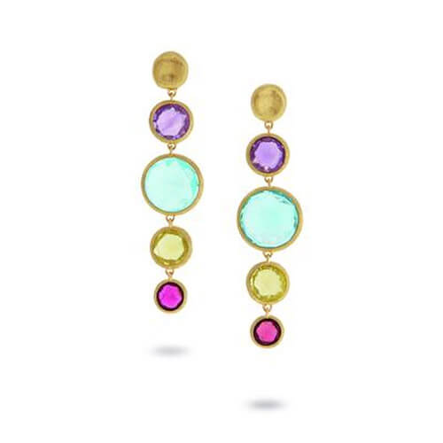 Jaipur Mixed Stone Drop Earrings