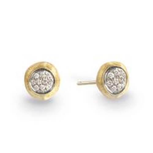 Delicati Gold & Diamond Pave Stud Earrings