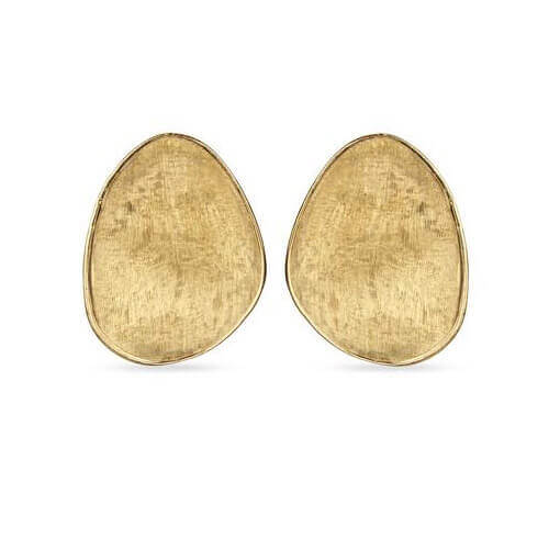 Lunaria Yellow Gold Large Stud Earrings