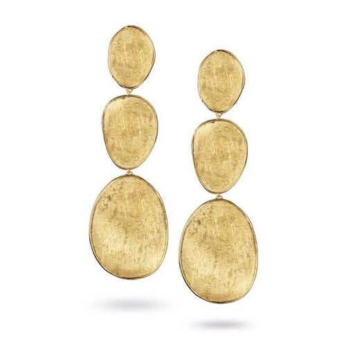 Lunaria Gold Large Triple Drop Earrings