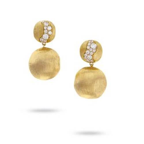 Africa Constellation Diamond Drop Earrings