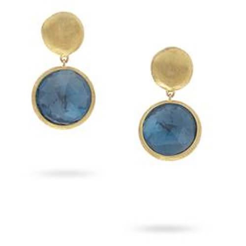 Jaipur London Blue Topaz Drop Earrings