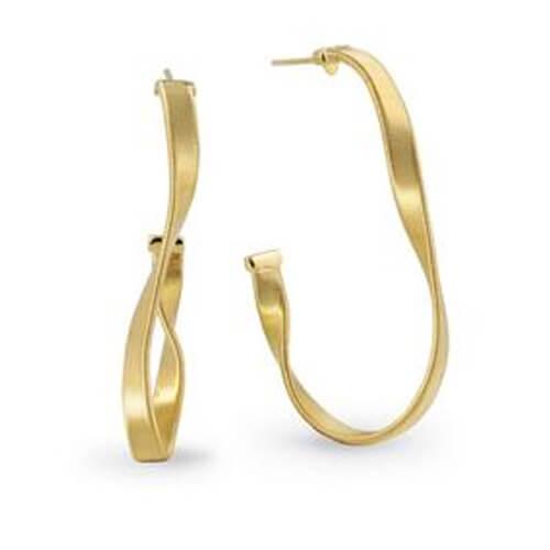 Marrakech Supreme Yellow Gold Hoop Earrings
