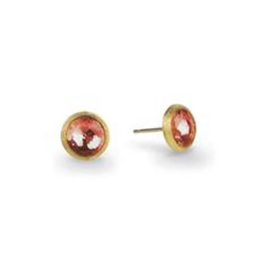 Jaipur Pink Tourmaline Petite Stud Earrings - Only One Pair Left