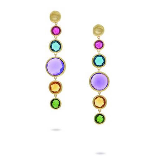 jaipur bold mixed gemstone drop earrings