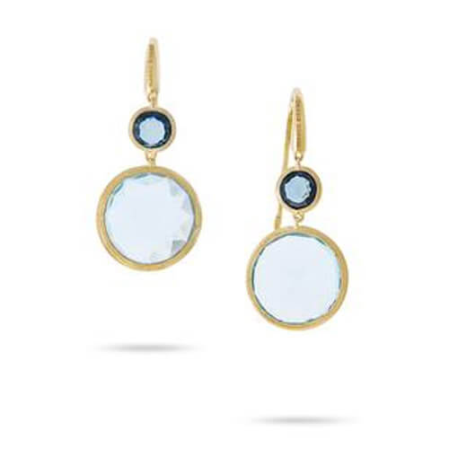 jaipur mixed blue topaz drop earrings
