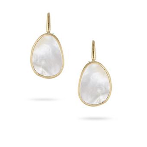 Lunaria White Mother of Pearl Drop Earrings