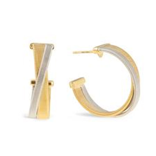 Masai Yellow and White Gold Hoop Earrings