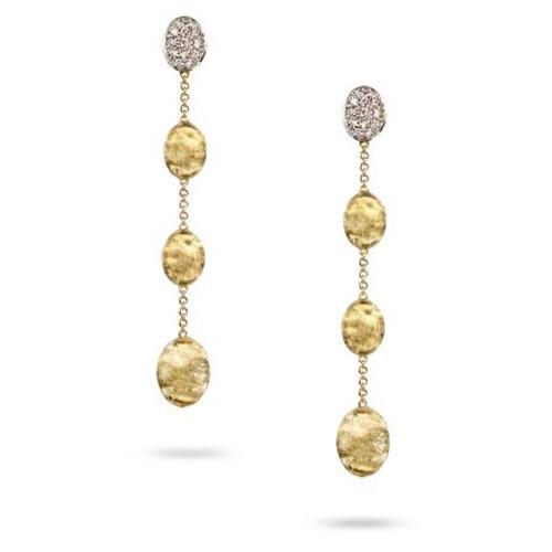 Siviglia Gold & Diamond Pave Four Drop Earrings