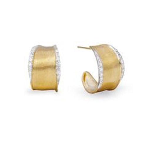 Lunaria Gold & Diamond Pave Hoop Earrings