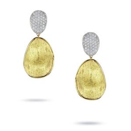 Lunaria Gold & Diamond Pave Small Double Drop Earrings