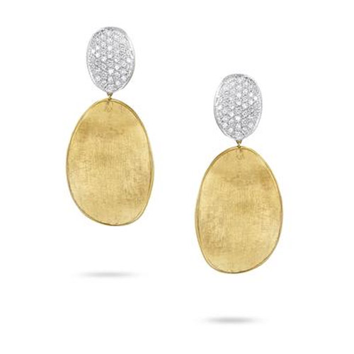 Lunaria Gold & Diamond Pave Medium Double Drop Earrings