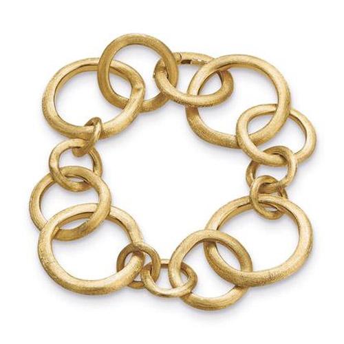 Jaipur Link Gold Medium Gauge Bracelet